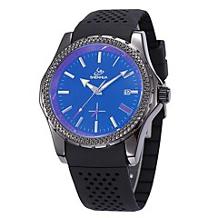 Men's Business Style Silicone Band Automatic Self Wind Wrist Watch (Assorted Colors)