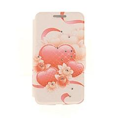 kinston rouge motif de pâte de diamant de réseau de coeur cuir PU cas complète du corps avec support pour iPhone 5 / 5s