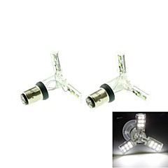 1157 (P21/5W Ba15d) 2W 24x528SMD LED 120-160LM  6500-7500K White Spider Lights for Car Down Lights(DC 12V/2pcs)