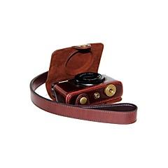 한국 후지 필름 XQ1의 X-Q1을위한 어깨 끈과 dengpin® 가죽 분리 보호 카메라 케이스 가방 커버