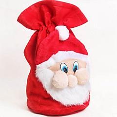 크리스마스 산타 클로스 벨벳 핸드백 사탕 선물 가방