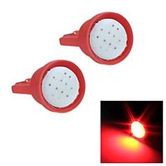 merdia t10 1.5W 300LM 6SMD cob levou destacar luz vermelha para a luz instrumento carro / placa de luz
