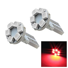 Merdia T10 0.5W 12LM 6x1210SMD LED Red Light Instrument Light /Reading Light (Pair/ 12V)