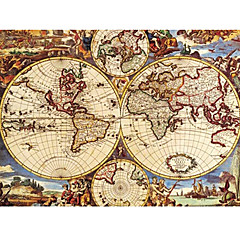 Antique World Map Puzzle Oil Painting Toy 1000 Pieces