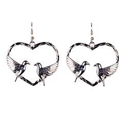 Naisten Pisarakorvakorut Love Heart pukukorut Metalliseos Heart Shape Animal Shape Lintu Korut Käyttötarkoitus Häät Party Päivittäin