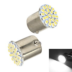 Cauda Merdia 1156 22x1206SMD White LED Car Light / Luz de direção (2 PCS / 12V)