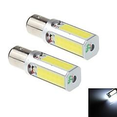 2pcs 1157 24w 4x Nichia cob 1800lm 6000k branco levou para a lâmpada do farol do carro / luz de nevoeiro (DC10 ~ 30V)