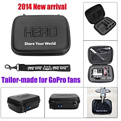 Fat Cat Waterproof PU Leather Extra Thick Anti-shock EVA Protective Case for GoPro Hero4 / 3+ / 3 / 2