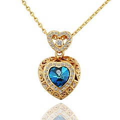 Golden Pendant Necklaces Wedding / Party / Daily / Casual Jewelry