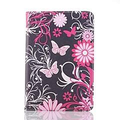 farfalla rosa in pelle modello caso tutto il corpo per ipad mini 3, ipad mini 2, ipad mini
