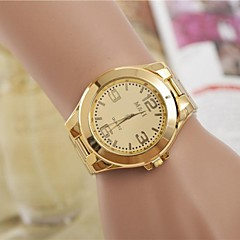 Dames Dress horloge Kwarts Legering Band Zilver Goud