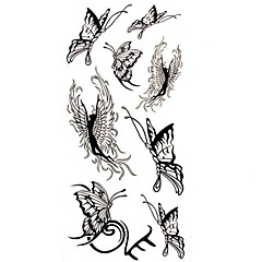 1pc Black Butterfly Angel Waterproof Tattoo Sample Mold Temporary Tattoos Sticker for Body Art(18.5cm*8.5cm)