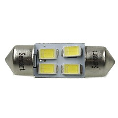 31mm (sv8.5-8) 2w 4x5730smd120-1600lm 6000-6500K wit licht led lamp voor auto leeslamp (ac12-16v)