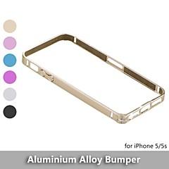 flange de metal para proteção em liga de alumínio caso pára-choques moldura para iphone 5 / 5s - (cores sortidas)