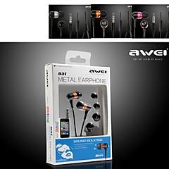 3.5mm Hi-Fi באיכות גבוהה awei-q3i אוזניות בתוך אוזן למיקרופון לiphone6 / 6plus (צבעים שונים)