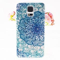 Zirkon Blumen Muster zurück Fall Prägung für Samsung Galaxy i9600 s5