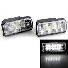 2 PCS White 18 LED 3528 SMD Number License Plate Lights Lamp Bulb for BENZ W203 W211