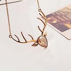 Oświadczenie Naszyjniki Kryształ Animal Shape Jeleń Kryształ Kryształ górski Pozłacane Stop biżuteria kostiumowa Biżuteria Na Impreza