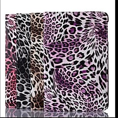 Leopard Grain Pattern PU Leather Case  for iPad mini 3, iPad mini 2, iPad mini/mini (Assorted Colors)
