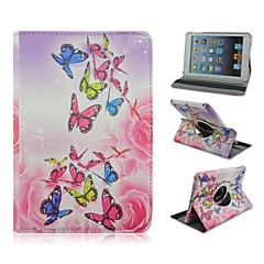 Beautiful Butterfly Pattern PU Leather Full Body Case with Stand for iPad Mini 1/2/3