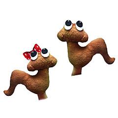 2pcs marionnettes de doigt de peluche ver les enfants du jardin parlent prop
