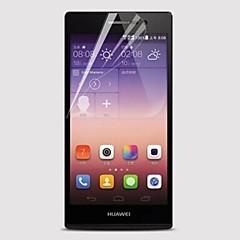 [5-pack] professionele hoge transparantie lcd kristalheldere screen protector met een reinigingsdoekje voor Huawei Ascend p7