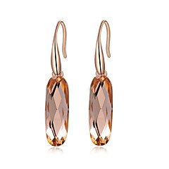 Gife for Women 18K Rose Plated Jewelry Use Shining Blue, Champagne Gold Austria Crystal Drop Earrings