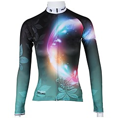 PaladinSport Women's  Long Sleeve Cycling Jersey Aperture Spring and Summer Style 100% Polyester