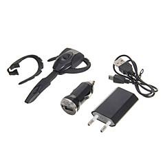 PS3のBluetoothヘッドセットヘッドホン&USBケーブル&EUアダプター&車の充電器