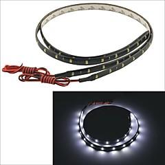 carking ™ 3528-30smd-60cm coche a prueba de agua lámpara decorativa strip-negro (2pcs)