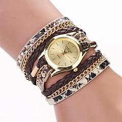 naisten leopardi viljaa kudottu luksusmallisto kvartsi rannekello kellot (valikoituja värejä) c&D-120