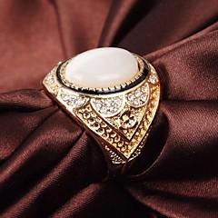 vintage klassiske legering opaler og rhinestone mænds ring