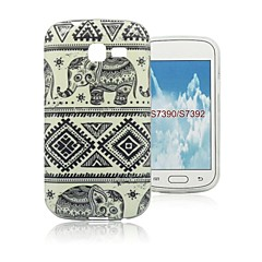 Elephants Design Pattern TPU Case Cover for Samsung Galaxy Trend Lite S7390/S7392
