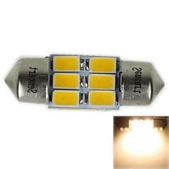 31MM(SV8.5-8)3W 6X5730SMD 180-220LM 3000-3500K Warm White Light LED Bulb for Car Reading  Lamp(AC12-16V)