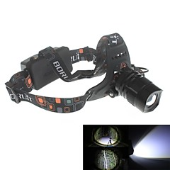 Zweihnder XKL-03 Waterproof 5-Mode 1xCree XM-L2 U2 Zoom Headlamp (1900lm,2 x 18650,Black)