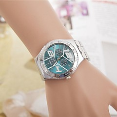 Women's Fashion Rhinestones Y Dial Steel Belt Quartz Wrist Watch(Assorted Colors)