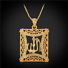 Κολιέ απομίμηση διαμαντιών Κρεμαστά Κολιέ / Vintage Κολιέ Κοσμήματα Square Shape Κρύσταλλο / Στρας / Επιχρυσωμένο Χρυσαφί Δώρο