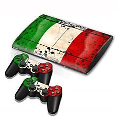 PS3 Slim 4000 konsoli suojaava tarrakalvo kansi iho ohjain tarrakalvo