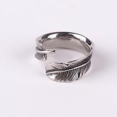 oo&X® punk Gothick stylu vintage, piórko rachunek otwarty pierścień biżuteria Titanium Stalowa męska