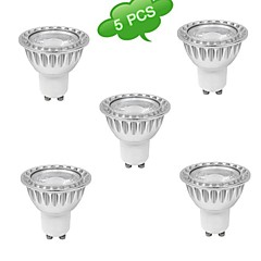 5W GU10 Spot LED MR16 1 COB 500 lm Blanc Chaud Blanc Naturel AC 85-265 V 5 pièces