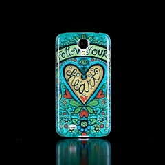 Flowers Pattern Glow in the Dark Hard Case for Samsung Galaxy S4 I9500