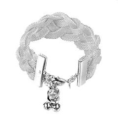 Női sterling ezüst ékszerek fonat 925 ezüst karkötő karkötők divat ékszerek pulseiras femininas karkötő női