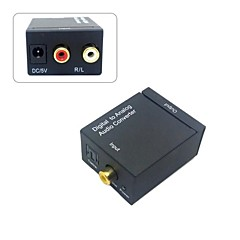 Digital SPDIF Coaxial Coax RCA & Optical Toslink to Analog L/R Audio Converter