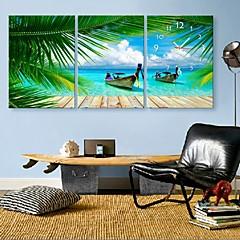 E-Home® Sommer coastl Uhr in Segeltuch 3pcs