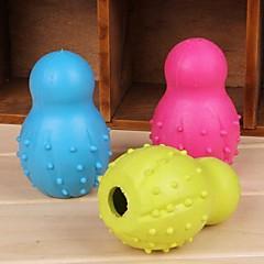애완 동물 개 볼링 모양의 고무 씹는 장난감 (색상 랜덤)