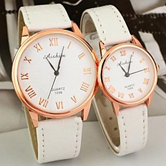 Couple's Round Dial PU Band Quartz Fashion Watch (Assorted Colors) Cool Watches Unique Watches