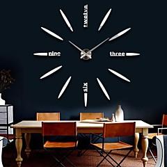 """39 """"w diy 3d grote digitale spiegel sticker wandklok moderne kunst wandklokken horloge unieke geschenken woondecoratie"""