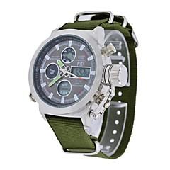 herenmode groen canvas bandje multifunctionele digitale quartz militaire polshorloges sportieve horloges