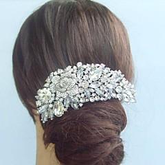 Women Alloy/Rhinestone/Crystal Hair Comb , Vintage/Party