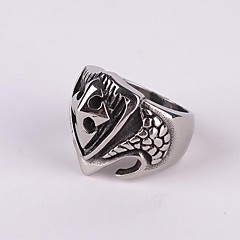 z&X® punk gothick tyyli kilpi titaani teräs miesten lausunto sormus